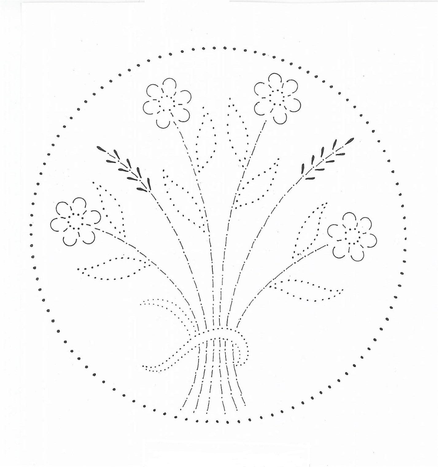 Tin Punch Patterns P 1108 Wheat Flowers 10x10 And 14x10 Pierced Tin Designs